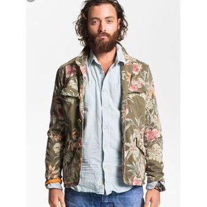 Scotch & Soda recoloured army Floral print jacket